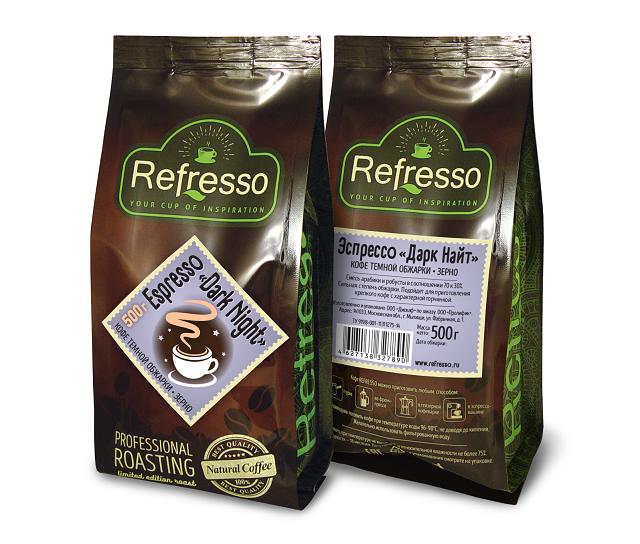 Espresso «Dark night» 500 гр. Зерно