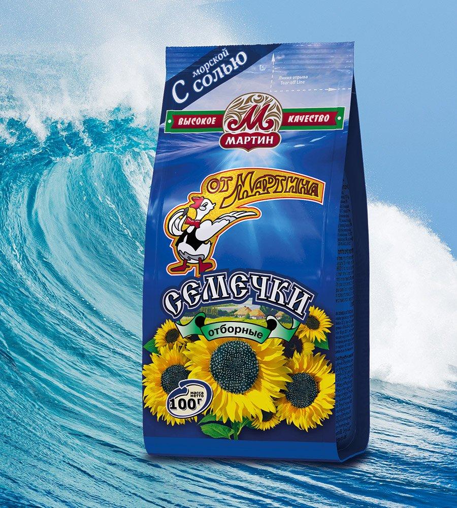Семечки Отборные Premium c морской солью