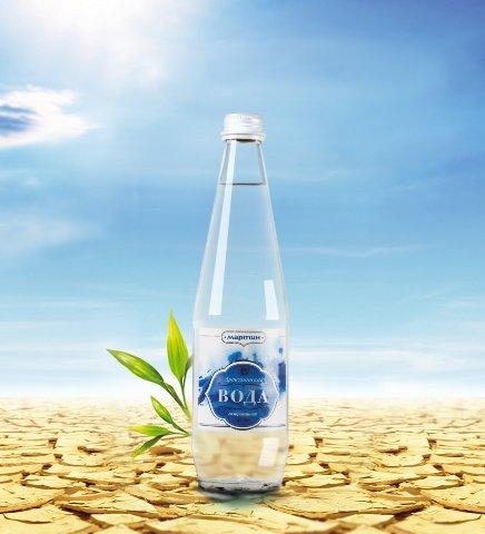 Вода природная, газированная