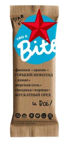 """Батончик Фруктово-ореховый """"Шоколад-мускатный орех"""" (Старбайт) 45гр"""
