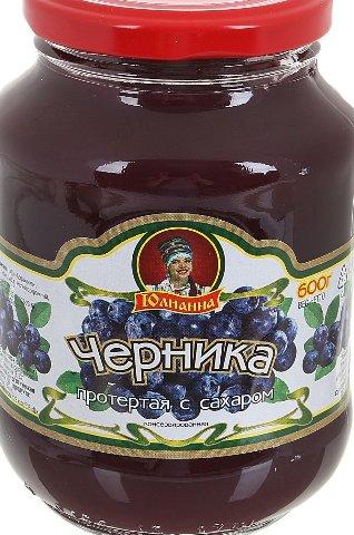 Протертая Черника с сахаром ГОСТ Юлианна