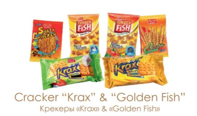 """Крекеры """"Krax"""" овощи и сыр, Крекеры """"Krax"""" соль 70г"""