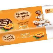 Рулет Сладкие истории с абрикосом