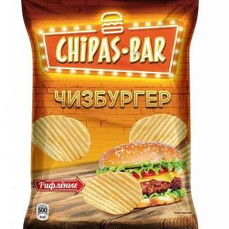 Со вкусом чизбургера (рифленые)