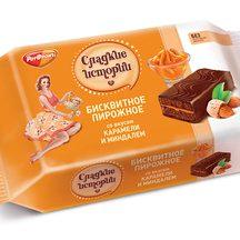 Бисквит Сладкие истории со вкусом карамели с миндалем