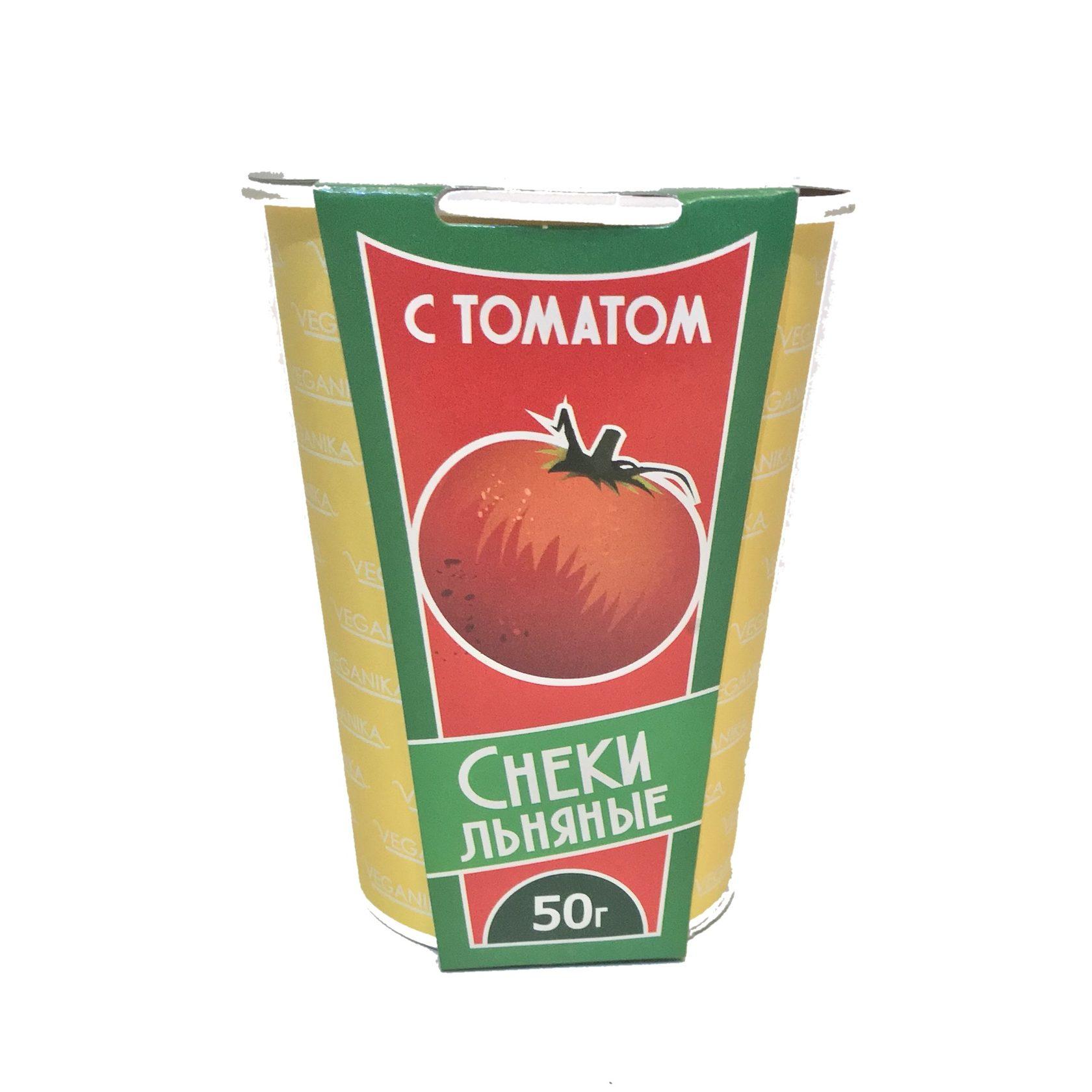 Снеки льняные с томатом, 50г
