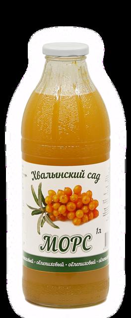 Морс облепиховый натуральный Хвалынский сад, 1 литр