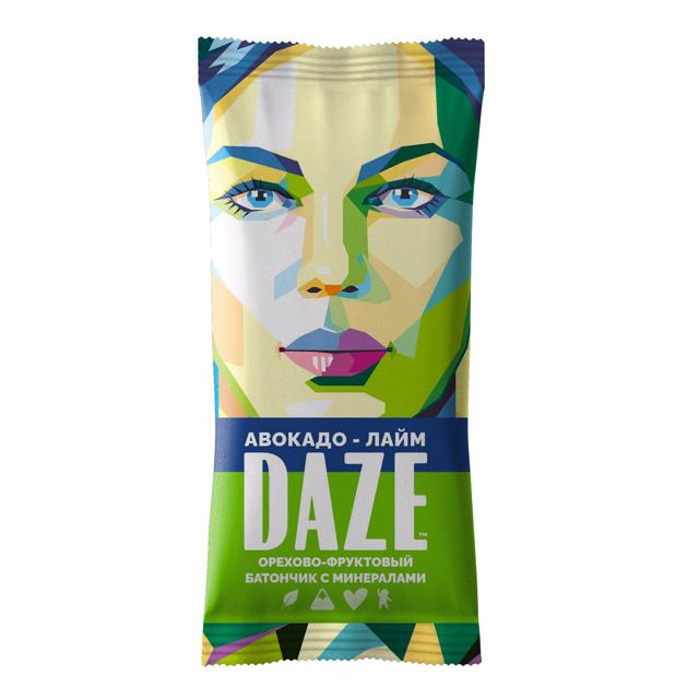DAZE Авокадо – лайм Орехово – фруктовый батончик