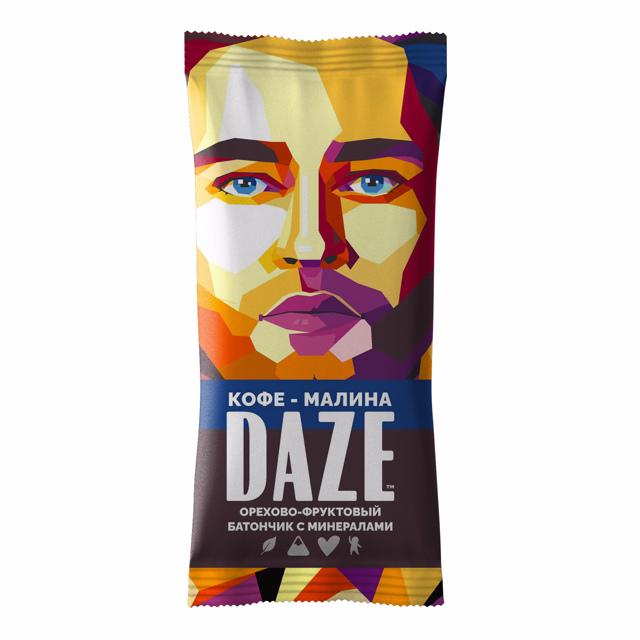 DAZE Кофе - малина орехово - фруктовый батончик
