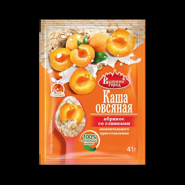 """Овсяная каша м/п """"Вышний город"""" с абрикосом со сливками"""