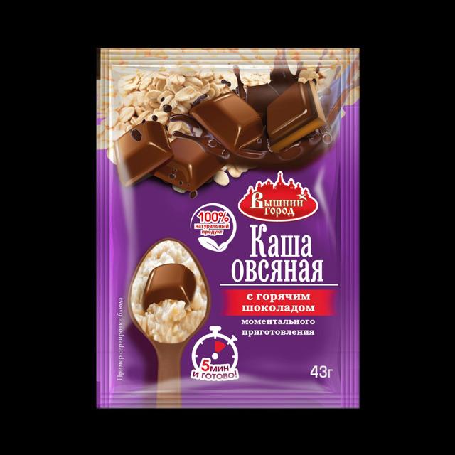 """Овсяная каша м/п """"Вышний город"""" с горячим шоколадом"""