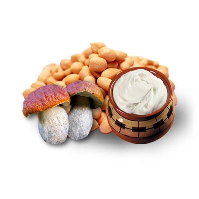 Арахис жаренный со вкусом грибов со сметаной