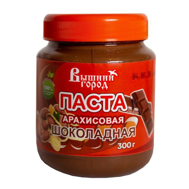 """Паста арахисовая """"Вышний город"""" Шоколадная 300г."""