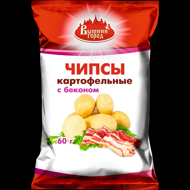 """Чипсы картофельные """"Вышний город"""" со вкусом бекона"""