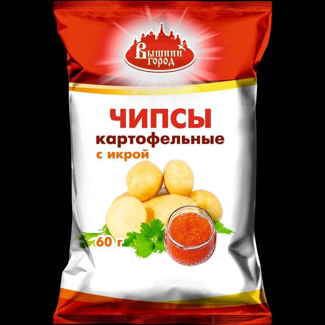 """Чипсы картофельные """"Вышний город"""" со вкусом красной икры"""