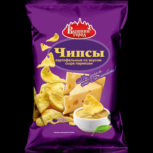 """Чипсы картофельные """"Вышний город"""" со вкусом сыра"""