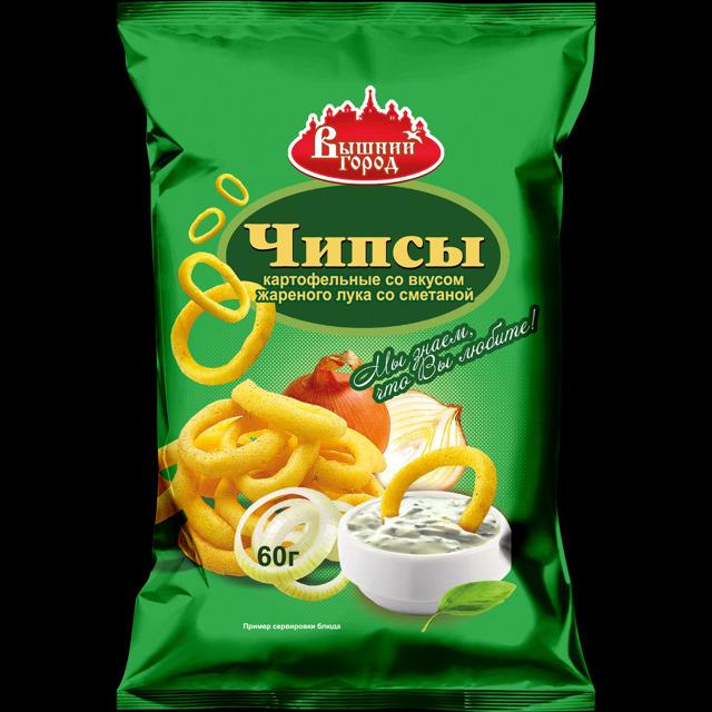 """Чипсы картофельные """"Вышний город"""" со вкусом лука"""