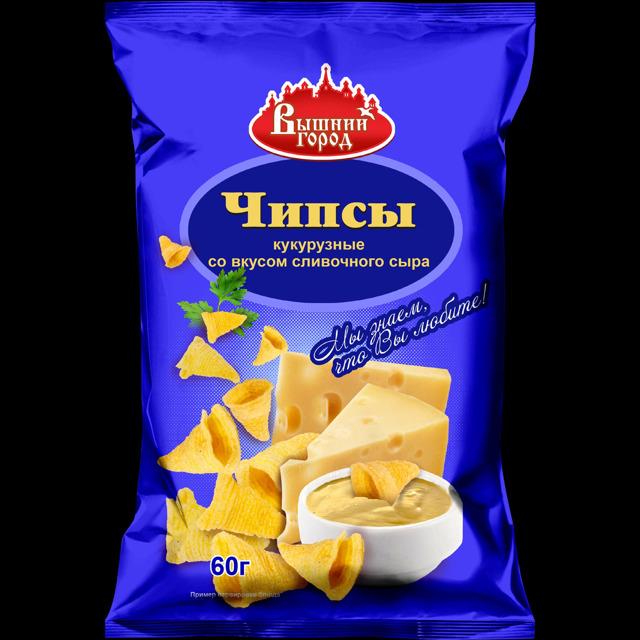 """Чипсы воздушные кукурузные """"Вышний город"""" со вкусом сыра"""