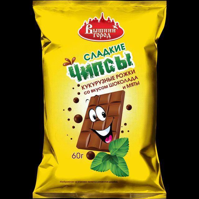 """Чипсы сладкие""""Вышний город"""" со вкусом шоколада"""