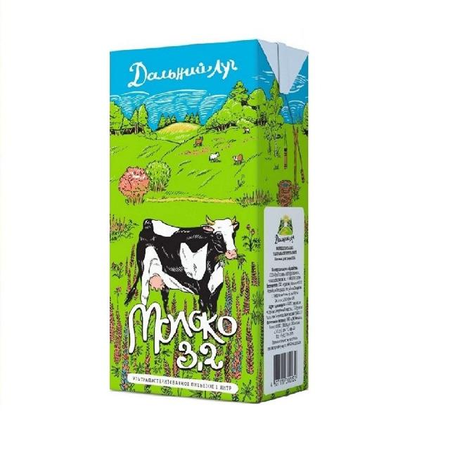 """Молоко """"Дальний луг"""" ультрап. 3.2% 1л"""