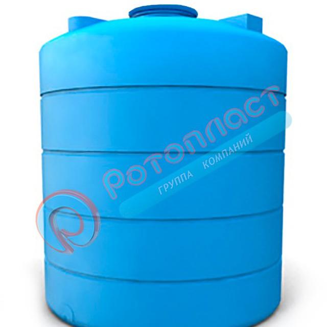 Емкость 5000 литров пластиковая цилиндрическая