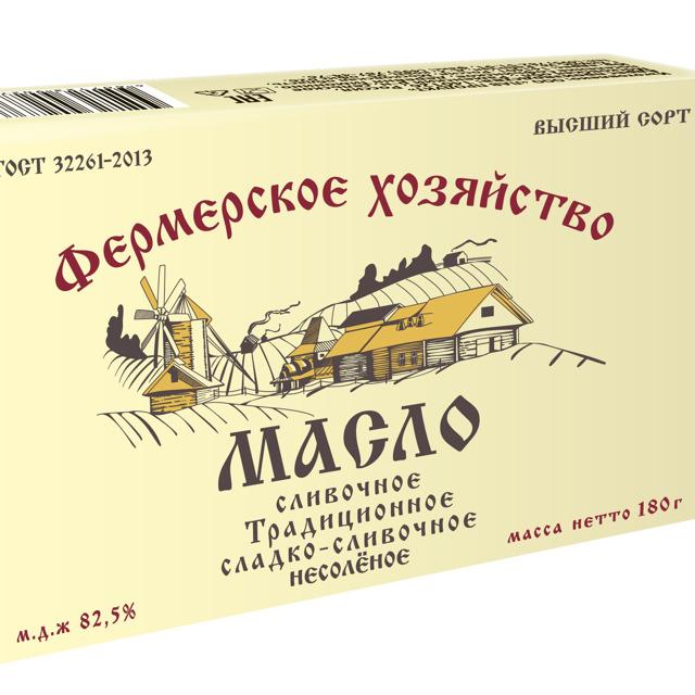 Масло сливочное традиционное 180гр.,82,5%