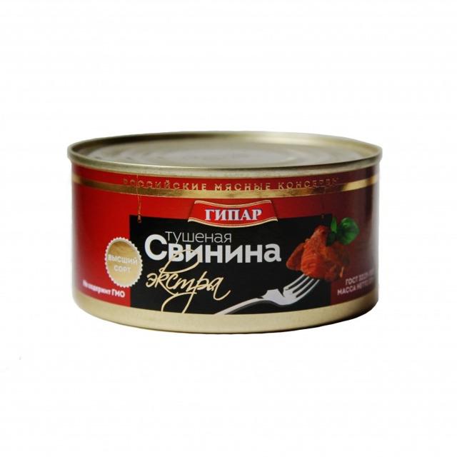 """Свинина тушеная """"ГИПАР-Экстра"""" ГОСТ В/С"""