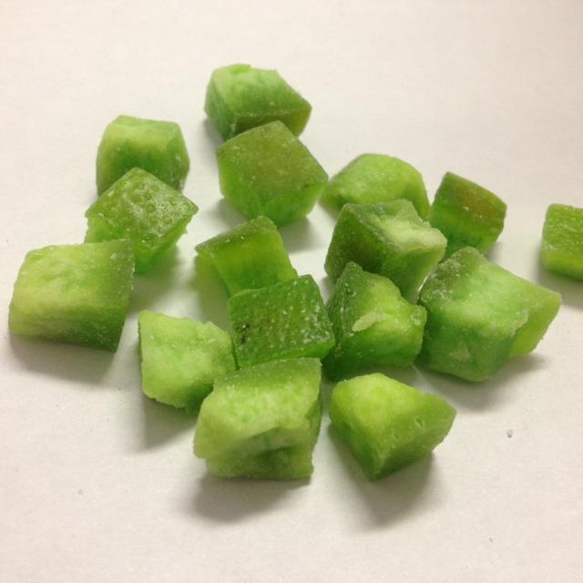 Помело цукаты кубик 8/10мм, зеленые