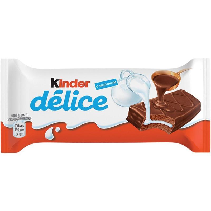 Пирожное Kinder Delice бисквитное в какао-глазури