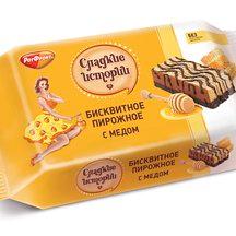 Бисквитное пирожное Сладкие истории с медом