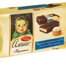 Пирожное бисквитное Алёнка вкус Сливочный крем