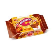 Пирожное бисквитное Любимое со вкусом шоколада с абрикос